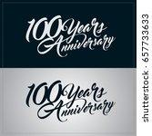 100 years anniversary... | Shutterstock .eps vector #657733633