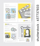 bifold brochure cover design... | Shutterstock .eps vector #657737833
