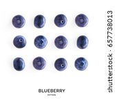 seamless pattern with blueberry.... | Shutterstock . vector #657738013