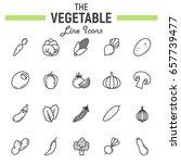 vegetable line icon set  food...   Shutterstock .eps vector #657739477
