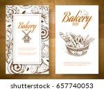 vector vertical bakery banners... | Shutterstock .eps vector #657740053