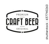 stout beer vintage sign | Shutterstock .eps vector #657740263