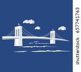 new york symbol   brooklyn... | Shutterstock .eps vector #657741763