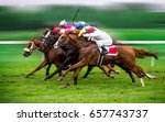 race horses with jockeys on the ... | Shutterstock . vector #657743737