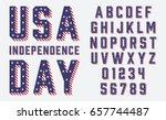 Font Usa Flag Stars And Stripe...