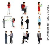 office people flat icon set | Shutterstock .eps vector #657746467