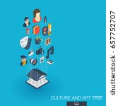 culture  art integrated 3d web... | Shutterstock .eps vector #657752707