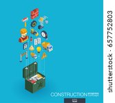 construction integrated 3d web... | Shutterstock .eps vector #657752803