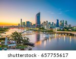Brisbane City Skyline And...