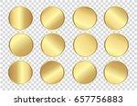 transparent   gold circle ... | Shutterstock .eps vector #657756883