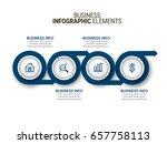 modern infographic process... | Shutterstock .eps vector #657758113