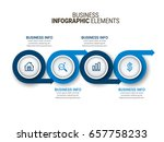 modern infographic process... | Shutterstock .eps vector #657758233