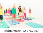 gymnastics workshops for kids... | Shutterstock . vector #657767257