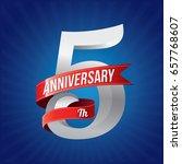 5 years anniversary celebration ... | Shutterstock .eps vector #657768607