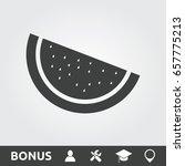 watermelon slice flat | Shutterstock .eps vector #657775213