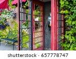 weather beaten traditional red...   Shutterstock . vector #657778747