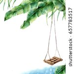 watercolor tropical card with... | Shutterstock . vector #657783517