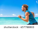 healthy sport runner man... | Shutterstock . vector #657788803