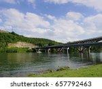 bridge over branson landing ... | Shutterstock . vector #657792463