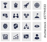 set of 16 startup icons set... | Shutterstock .eps vector #657794533