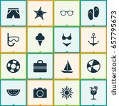 season icons set. collection of ... | Shutterstock .eps vector #657795673