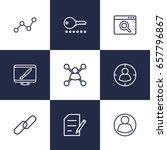set of 9 optimization outline... | Shutterstock .eps vector #657796867
