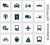 shipment icons set. collection... | Shutterstock .eps vector #657797323