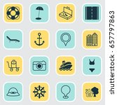 travel icons set. collection of ... | Shutterstock .eps vector #657797863