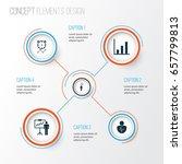 management icons set.... | Shutterstock .eps vector #657799813