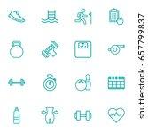 set of 16 training outline... | Shutterstock .eps vector #657799837