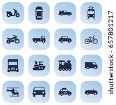 set of 16 traffic icons set... | Shutterstock .eps vector #657801217