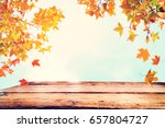 top of wood table with...   Shutterstock . vector #657804727