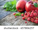redcurrant  rasberry and red... | Shutterstock . vector #657806257
