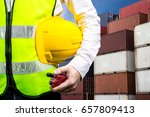 industrial container yard for... | Shutterstock . vector #657809413
