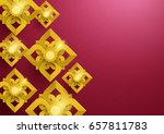 gold abstract flowers asian... | Shutterstock .eps vector #657811783
