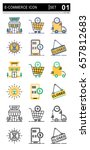 icons for e commerce and... | Shutterstock .eps vector #657812683