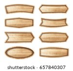 wooden stickers label... | Shutterstock .eps vector #657840307
