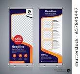 roll up brochure flyer banner... | Shutterstock .eps vector #657841447