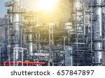 close up industrial view at oil ... | Shutterstock . vector #657847897