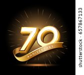 70 years golden anniversary... | Shutterstock .eps vector #657867133
