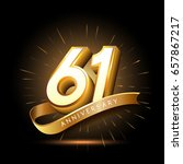 61 years golden anniversary... | Shutterstock .eps vector #657867217