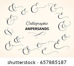 set of custom decorative... | Shutterstock .eps vector #657885187