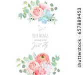 delicate wedding floral vector... | Shutterstock .eps vector #657889453