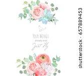 Delicate Wedding Floral Vector...