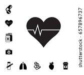 heart and pill or drug vector...   Shutterstock .eps vector #657896737
