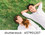 young asian lovely couple or... | Shutterstock . vector #657901207