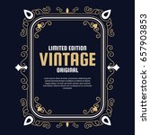 vintage flyer background design ... | Shutterstock .eps vector #657903853