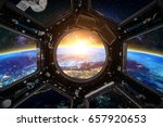 earth and spacecraft. elements... | Shutterstock . vector #657920653