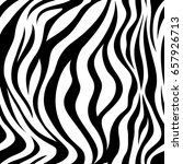 zebra black and white strips ... | Shutterstock .eps vector #657926713
