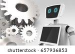 chat bot   robo advisor  ... | Shutterstock . vector #657936853